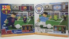 FC Barcelona & Manchester City Buildable Playmakers Soccer Lego MESSI & SUAREZ