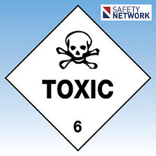 Toxic 6   Sign Safety Dangerous Goods Sign Self Adhesive  270x270mm