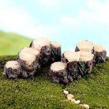 Miniature Resin Tree Stump Bridge Garden Fairy Ornaments Flowers Pot Plant Decor