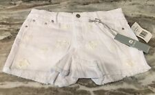Tractr Girl's Shorts Size 14 White Adorable Distressed
