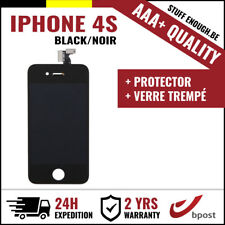 AAA+ LCD VITRE TACTILE SCREEN/SCHERM/ÉCRAN BLACK NOIR&VERRE TREMPÉ FOR IPHONE 4S