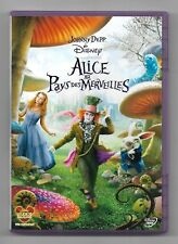 DVD DISNEY / ALICE AU PAYS DES MERVEILLES - TIM BURTON JOHNNY DEPP / COMME NEUF