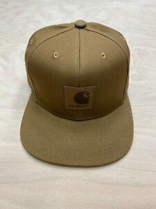 Carhartt Wip Logo Cap Snapback Watch Hat Hamilton Brown Backley