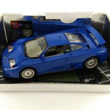 Blue 1991 Bugatti EB 110 Bburago 1:18 diecast with Box