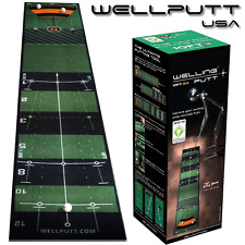 """NEW 2018"" WELLING PUTT 3 METRE PRO SPEED GOLF PUTTING MAT GOLF PRACTICE AID"