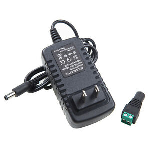 Power Supply Adapter AC to12V Volt DC 1A/2A/3A/4A/5A 5050 3528 LED Strip Light