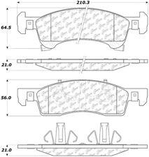 Disc Brake Pad Set Front Centric 105.09340