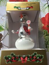 Snowman Christmas Ornament Italian Mouth Blown Glass Hand Painted - Italy NEW