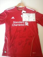 2011-12 Liverpool Home Shirt Signed By The Team