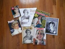A Tribute To Princess Diana – Lot of 7 Various Publications 1997