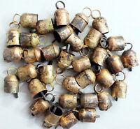 Handmade Decorative Tin Metal Bells Home Decor Vintage X Mas Decoration 12 Pcs