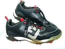 FootJoy 57333 Sz 11med Freestyle Black Red Leather Spiked Golf Shoes