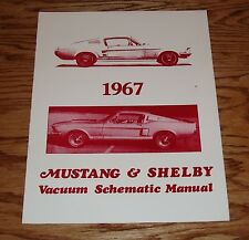 1967 Ford Mustang & Shelby Vacuum Schematic Manual 67