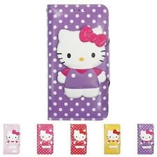 HELLO KITTY Body Button Wallet Flip Cover Galaxy S20 S10 S9 Note20 Note10 Case