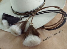 horsehair, stampede string, chin strap, cotter-pin, brown or black, hat string