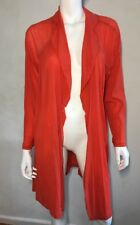 As New! Faye Browne (Motto) orange long mesh cardigan ~ sz 14