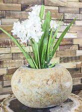 Natursteinvase / Stein Vase / Blumenkübel / Natur / Übertopf / ähnl. Abbildung