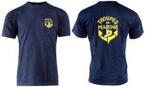 T-Shirt TROUPES DE MARINE Française TDM T.D.M - Taille S / 88 - 100% Cotton