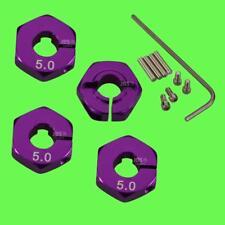 ► 1/10 ALU 5mm LILA Radmitnehmer Rad Adapter 12mm Hex Sechskant Reifen Tuning