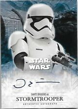 Topps Star Wars The Force Awakens Autograph Dante Briggins As Stormtrooper