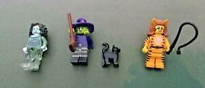 3 x LEGO Minifigure Series 14 Monsters Bundle - Banshee/Tiger Woman/Wacky Witch