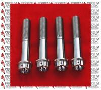 SET OF 10 RACE DRILLED DUCATI SILVER TITANIUM FRONT DISC BOLTS 1199 PANIGALE