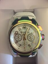 TECHNOMARINE WOMENS SEA DREAM 42MM WHITE LEATHER BAND QUARTZ WATCH TM-715038 NWT