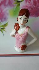 "Superb Art Deco Style 1920's Pretty Young ""Flapper"" Lady ~Half Pin Cushion Doll"