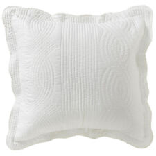 Bianca Elegance Kinley Cloud White Quilted European Pillowcase