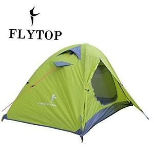 3-4 Season 1-2-person Double Layer Backpacking Tent Green-Single Person Tent