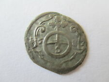 GERMAN STATES SAXE-EISENBERG SILVER COIN 3 PFENNIG RULER CHRISTIAN  DATED 1687