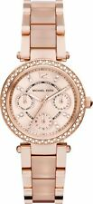 Michael Kors MK6110 Parker Rose Dial Rose Gold Tone Acetate Ladies Wrist Watch