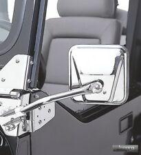 SmittyBilt 55-86 Jeep CJ5 & CJ7 Stainless Steel Side Mirrors - Pair - Brand New!