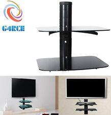2 Tier Glass Wall Mount Shelf Bracket Stand for SKY DVD Amazon Box Wii PS3 XBOX
