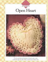 Large OPEN HEART Pillow Crochet Single Pattern Vanna White
