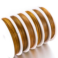 1Roll Gold Stainless Steel Wire Tiger Tail Beading Wire Resistant Strong Line