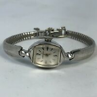 Caravelle M9 Womens Wind Up Vintage Mechanical Silver Bracelet Analog Watch