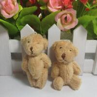 5PCS/LOT Kawaii Small Joint Teddy Bears Stuffed Plush 6CM Toy Teddy-Bear Mini