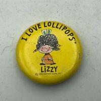 "1976 I Love Lollipops Hallmark Cards 1-1/8"" Button Pin Pinback Vintage  F2"