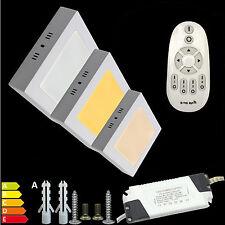 24W Quadrat LED Panel Leuchte Deckenlampe Aufputz Wand DIMMEN WECHSELN 17 Series
