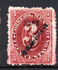 Mexico 1882 Foreign Mail Small Numeral 3¢ Rose Carmine Colima VFU MX5