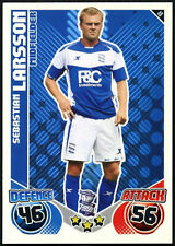 Sebastian Larsson #48 Birmingham  Topps Match Attax 2010-11 Football Card(C602)