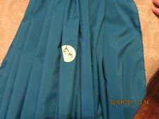 "VGT TAFFETA OCEAN  BLUE  ANTIQUE DOLL DRESS COSTUME HOME 29"" X 29"" LAST # ST1"