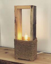 Altholz Stehlampe Tisch leuchte 40cm