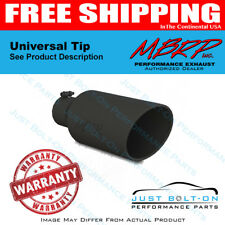 """MBRP Universal Exhaust Tip 7"""" O.D. Rolled End 4"""" Inlet 18"""" Length BLK T5126BLK"""