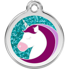 Unicorn Shoes Glitter Enamel/Solid Stainless Steel Engraved ID Dog/Cat Tag