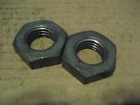 1-1//8-7 LH SEMI-FINISHED HEX JAM NUTS 10 PCS LS639-10