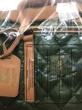 Fila Ltd Edition Bnp Paribas Open Tennis Bag Green Quilted Vegan Ltr Nwt Reg$135