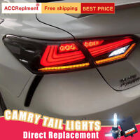 NEW Set For Toyota Camry LED Taillights Assembly All LED Rear Lamps 2018-2020