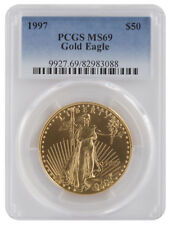 1997 - $50 1oz Gold American Eagle MS69 PCGS Blue Label